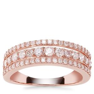 Natural Blush Pink Diamond Ring in 9K Rose Gold 0.74ct