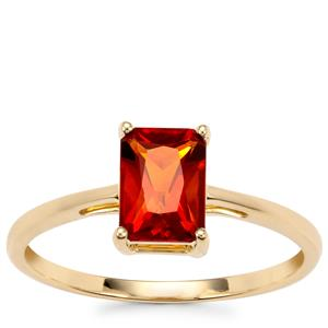 Madeira Citrine Ring in 10K Gold 0.82ct