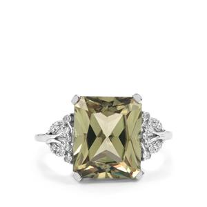 Csarite® Ring with Diamond in 18K White Gold 7.74cts
