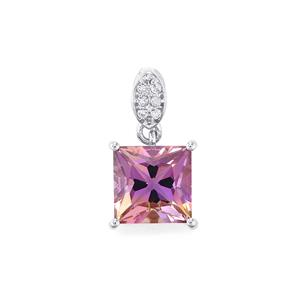 Anahi Ametrine Pendant with White Topaz in Sterling Silver 3.36cts