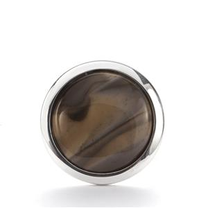 4.65cts Cappuccino Flint Sterling Silver Ring