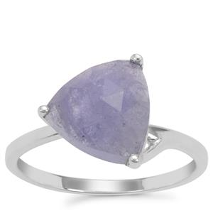 Rose Cut Tanzanite Ring in Sterling Silver 3.80cts