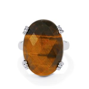 17ct Yellow Tigers Eye Sterling Silver Aryonna Ring