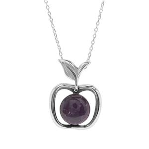 Kenyan Amethyst Necklace in Sterling Silver 3.97cts