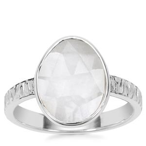 Optic Quartz Ring in Sterling Silver 2.61cts