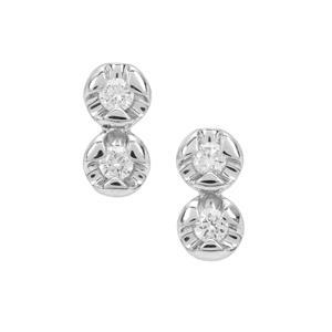 1/10ct Diamond Platinum 950 Tomas Rae Earrings