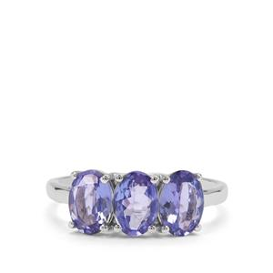 AA Tanzanite Ring in 9K White Gold 2.10cts