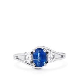 Daha Kyanite & White Topaz Sterling Silver Ring ATGW 1.60cts