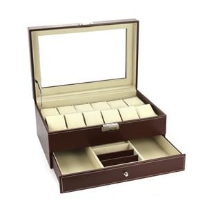 Jewellery and Watch Double Layer Storage Box