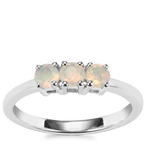 Ethiopian Opal Ring in Sterling Silver 0.30ct