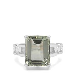 Montezuma Prasiolite Ring in Sterling Silver 5.86cts