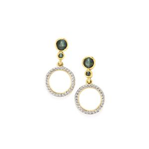 Cats Eye Alexandrite Earrings in 10k Gold 0.94cts