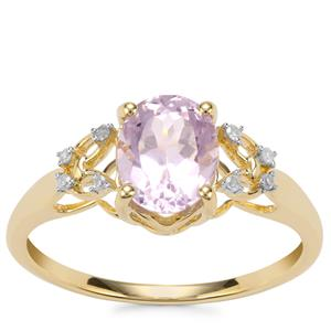 Mawi Kunzite Ring with Diamond in 10K Gold 1.91cts