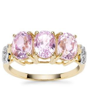 Mawi Kunzite Ring with Ceylon White Sapphire in 9K Gold 3.92cts