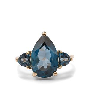 Marambaia London Blue Topaz Ring in 10K Gold 5.81cts