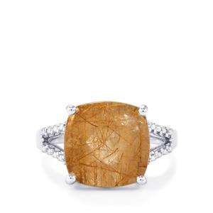 6.60ct Bahia Rutilite Sterling Silver Ring
