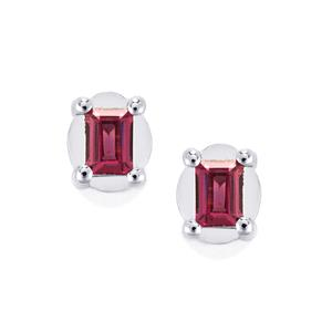 Rhodolite Garnet Earrings in Sterling Silver 0.58ct