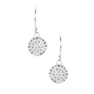 White Topaz Earrings in Sterling Silver 0.95cts