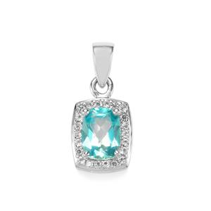 Batalha Topaz Pendant with White Topaz in Sterling Silver 1.97cts