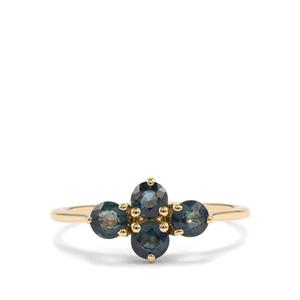Nigerian Blue Sapphire Ring in 9K Gold 1.15cts