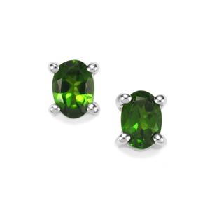 0.88ct Chrome Diopside Sterling Silver Earrings