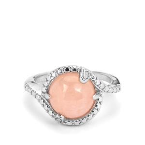 4.93ct Galileia Morganite Sterling Silver Ring