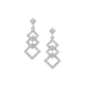 Canadian Diamond Earrings in Platinum 950 1ct