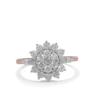1ct GH Diamond 9K Rose Gold Ring