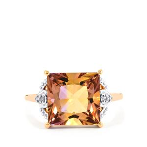 Anahi Ametrine Ring with Diamond in 9K Rose Gold 4.65cts
