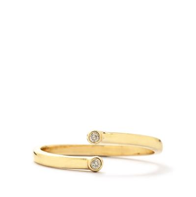 DIAMOND 9K GOLD STACKING RING