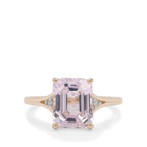 Kolum Kunzite Ring with Diamond in 9K Gold 4.35cts