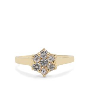 0.73ct Ceylon White Sapphire 9K Gold Ring