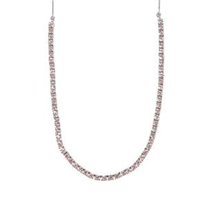 7.28ct Kaffe Tourmaline Sterling Silver Necklace