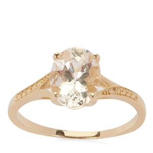 Danburite Ring in 9K Gold 1.82cts