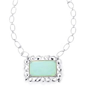 30.10ct Amhara Opal Sterling Silver Necklace