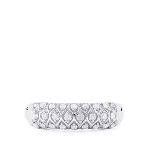 Diamond Ring in Sterling Silver 0.33ct