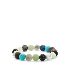 Multi-Gemstone Stretchable Bracelet ATGW 142.50cts