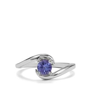 0.52ct Tanzanite Sterling Silver Ring