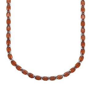 Loliondo Orange Kyanite Necklace in Sterling Silver 42.18cts