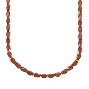 42.18ct Loliondo Orange Kyanite Sterling Silver Necklace