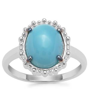 Sleeping Beauty Turquoise Ring in Sterling Silver 2.97cts