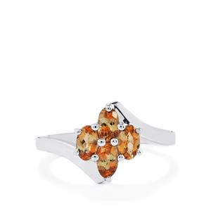 0.90ct Gouveia Andalusite Sterling Silver Ring