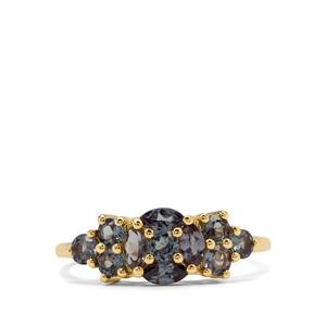 Colour Change Garnet Ring in 9K Gold 1.25cts