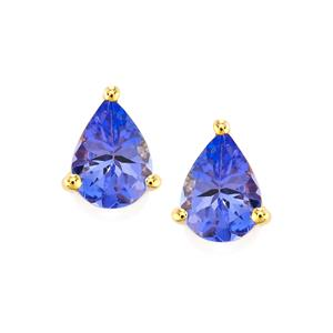 AA Tanzanite Earrings in 9K Gold 1.37cts