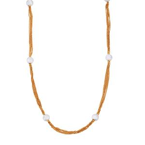 "18"" Two Tone Midas Fantasia Station Necklace 6.80g"