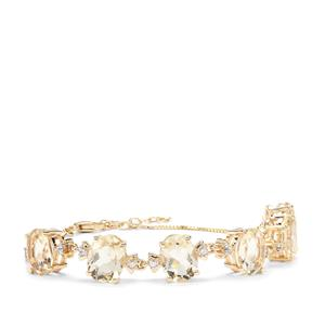 Serenite Bracelet with White Zircon in 9K Gold 10.47cts