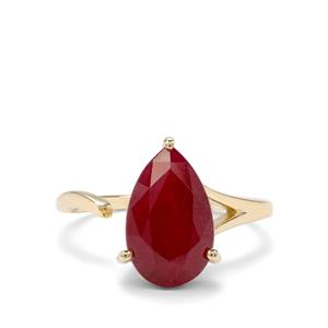 4.84ct Malagasy Ruby 9K Gold Ring (F)