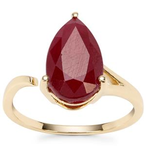 Malagasy Ruby Ring in 9K Gold 4.84cts (F)