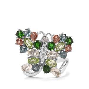4.57ct Kaleidoscope Gemstones Sterling Silver Ring