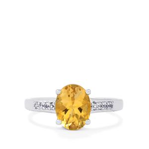 Diamantina Citrine Ring with White Topaz in Sterling Silver 1.74cts
